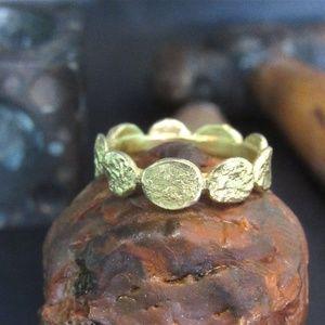 14k solid gold handmade wedding/gift ring.